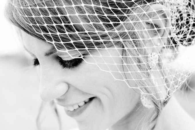 How to Wear a Birdcage Veil | Veil by Marti & Company