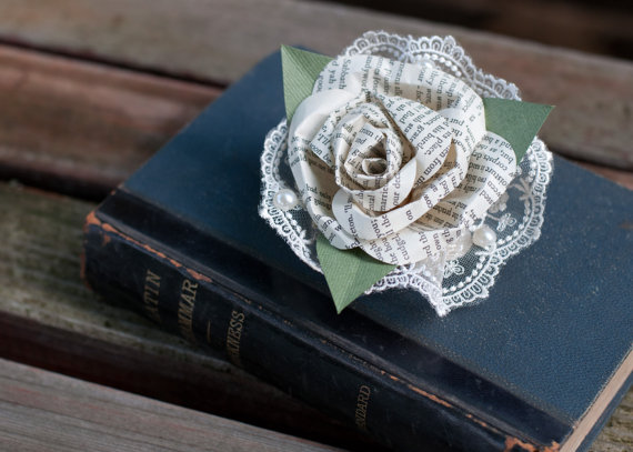 book page corsage