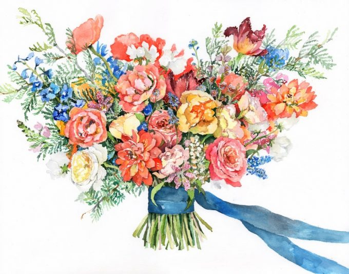 bouquet painting
