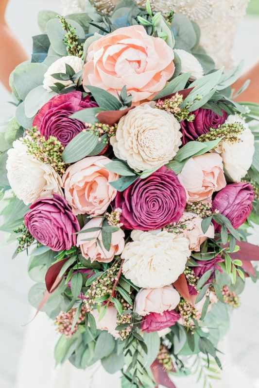 wooden flower bouquets