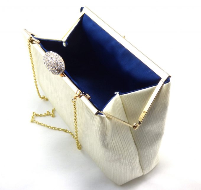 blue lined clutch -- favorite color on the inside - clutch by ella winston