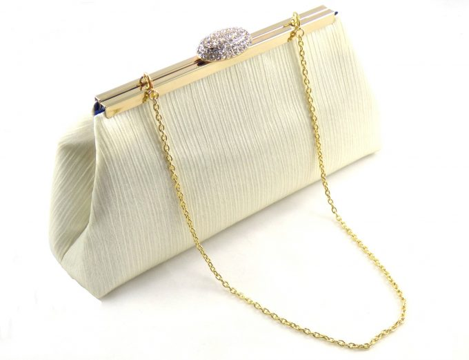 something blue lined clutch -- favorite color on the inside - clutch by ella winston
