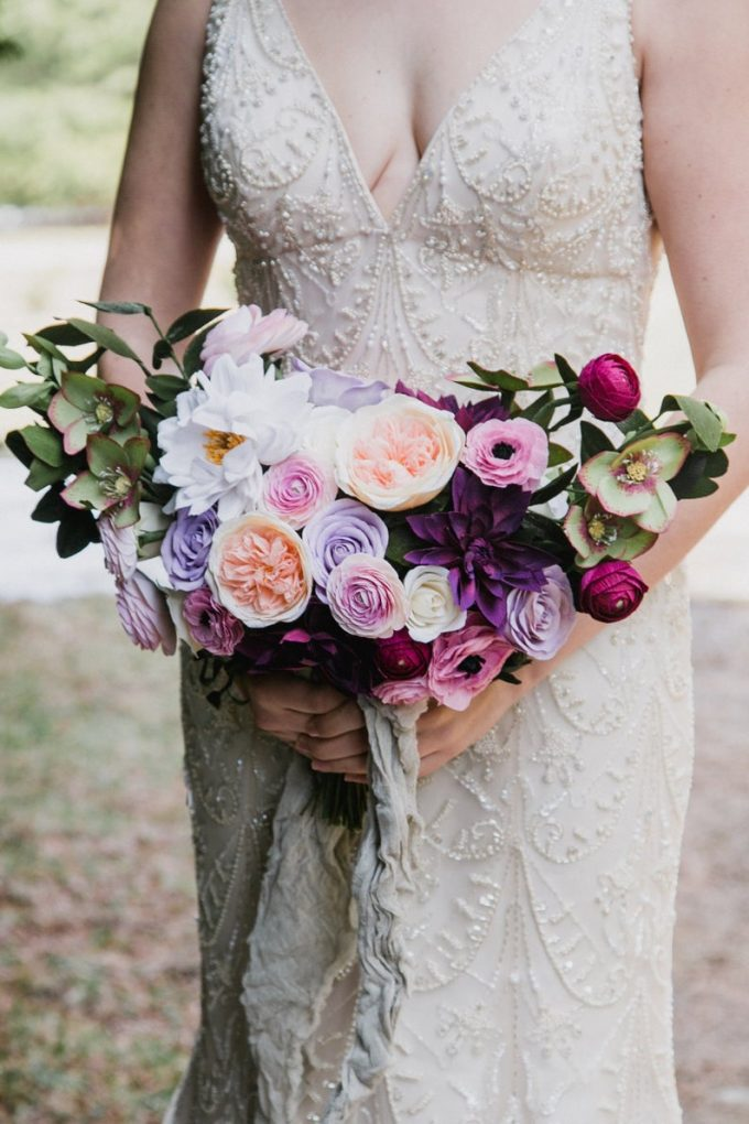 crepe paper bouquet replica made to look like your wedding flowers