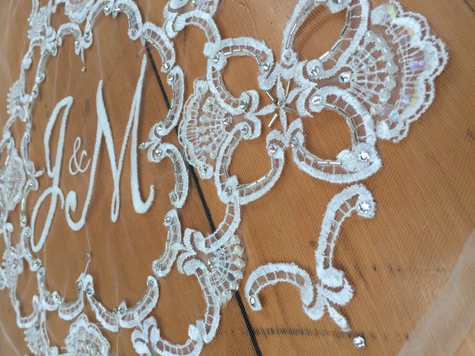 monogrammed wedding veils