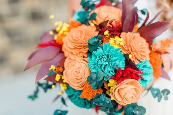 sola wedding bouquet