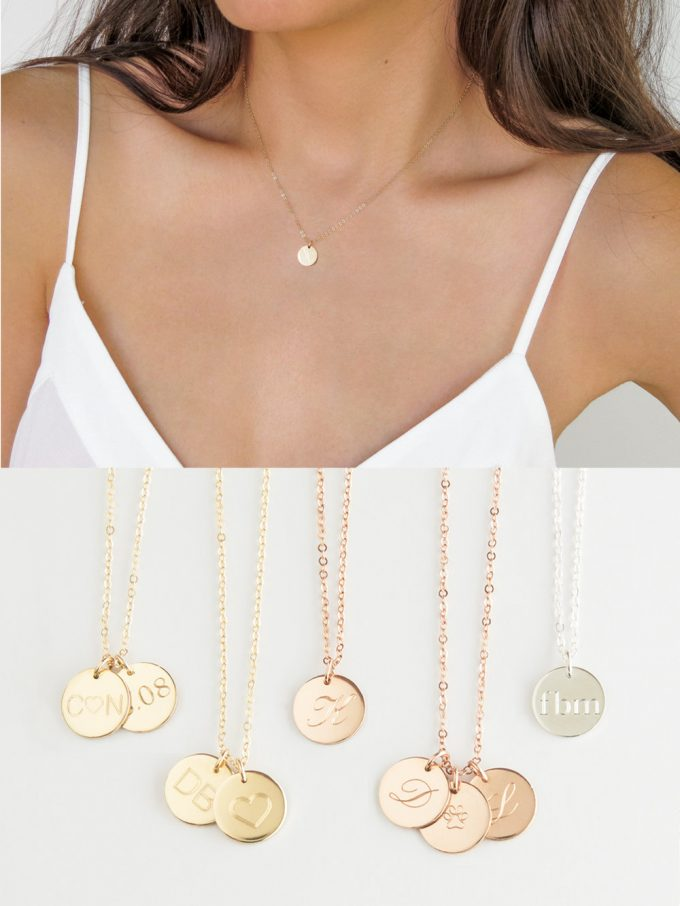 personalized disc necklaces
