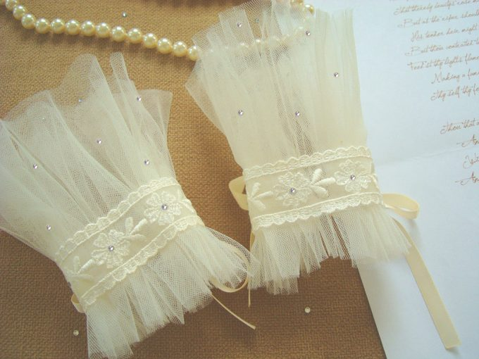 wedding gloves and cuffs