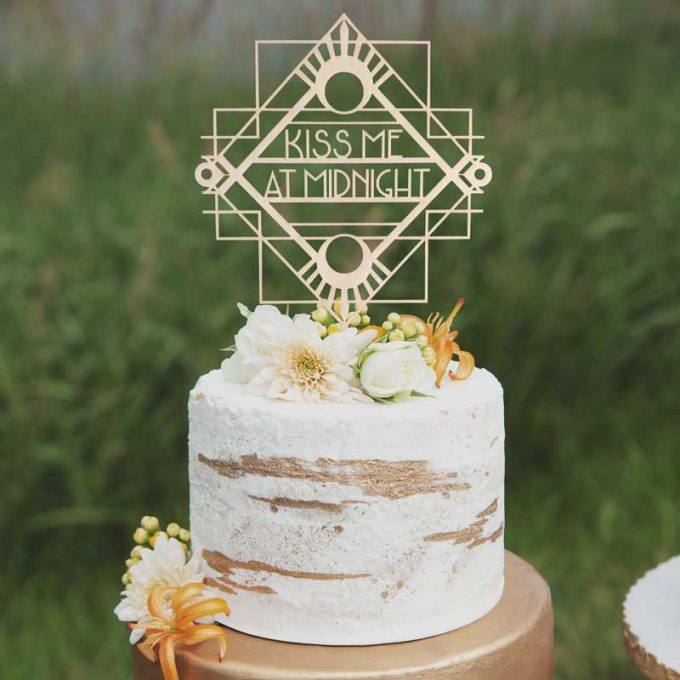 art deco wedding cake toppers