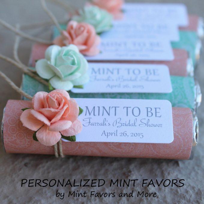mint wedding favors