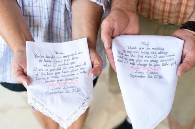 embroidered wedding handkerchiefs