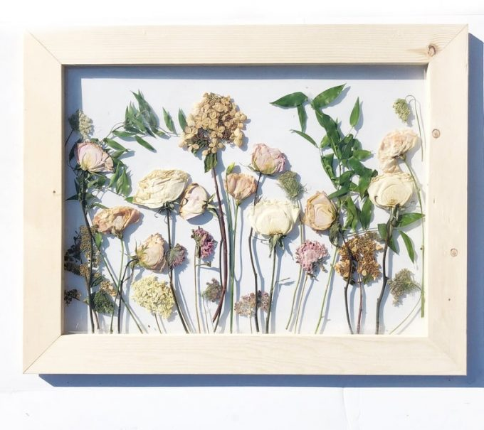 framed preserved wedding flower art