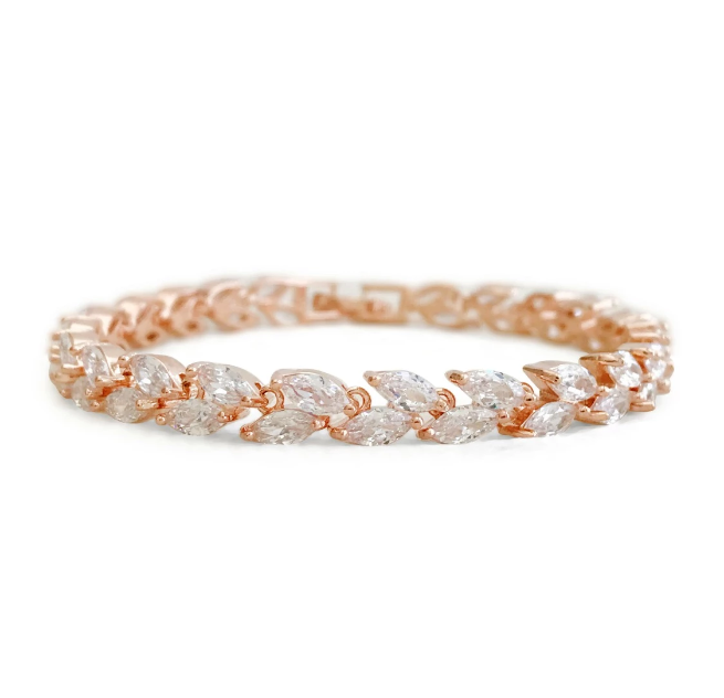 wedding bracelet and earrings set