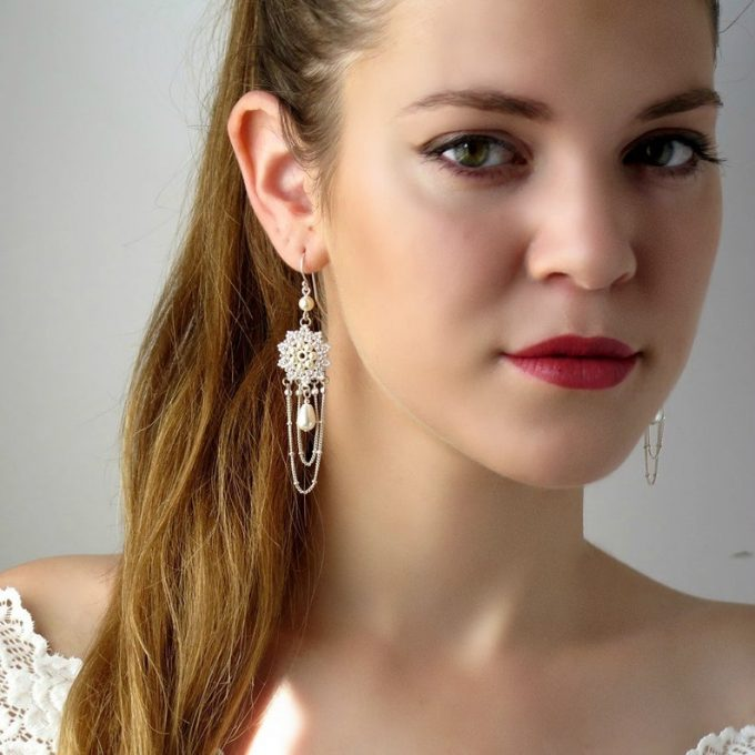 boho bridal earrings