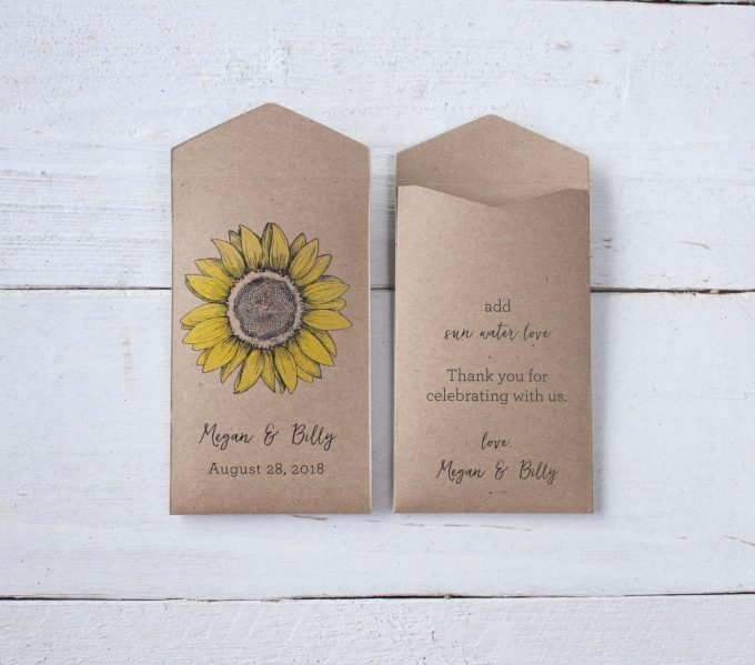 seed packet favor