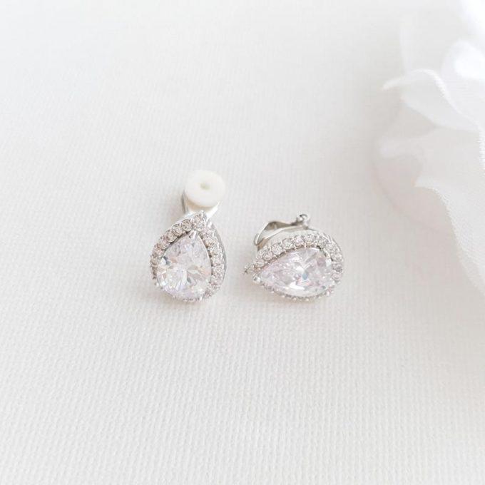 clip on wedding earrings
