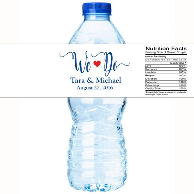 personalized water bottles wedding - bottled water wedding