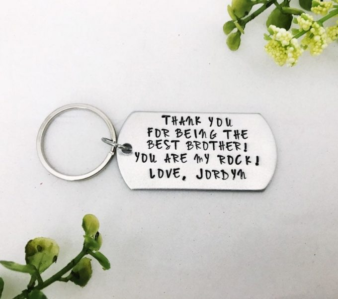 brother of the bride gifts keychain