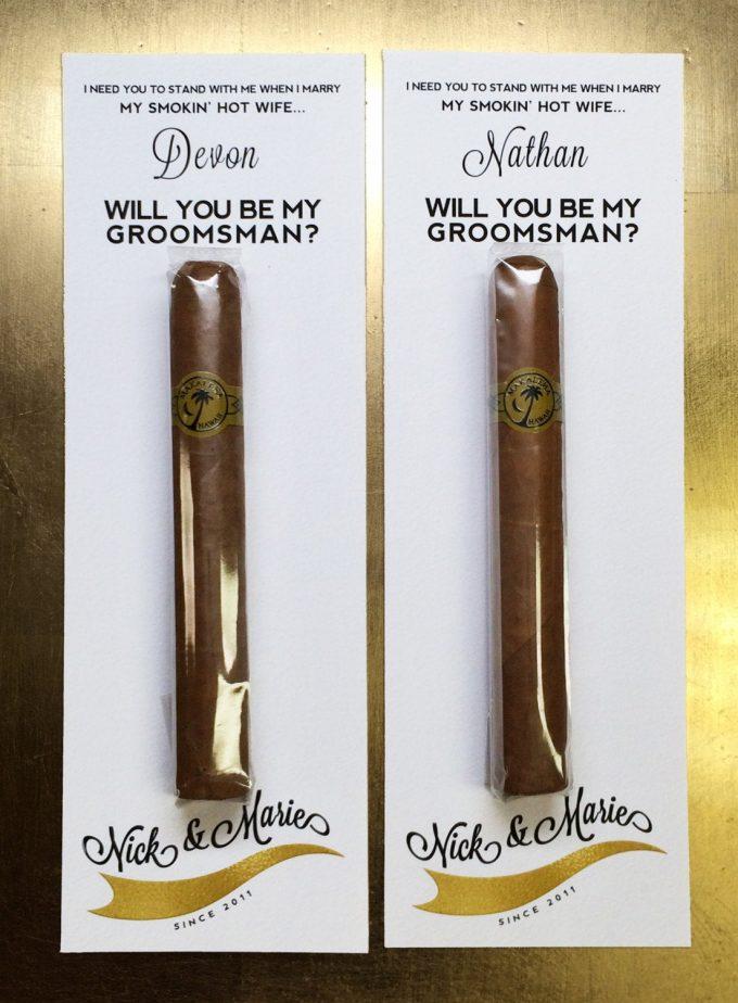 be my groomsman cigar
