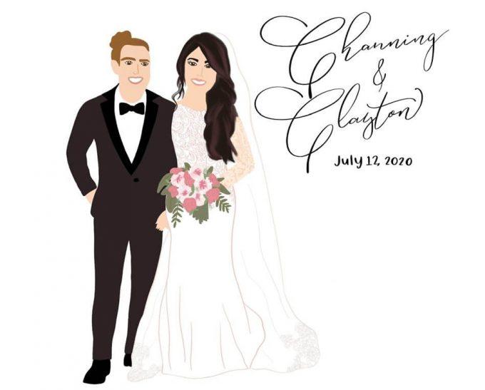 digital wedding portrait