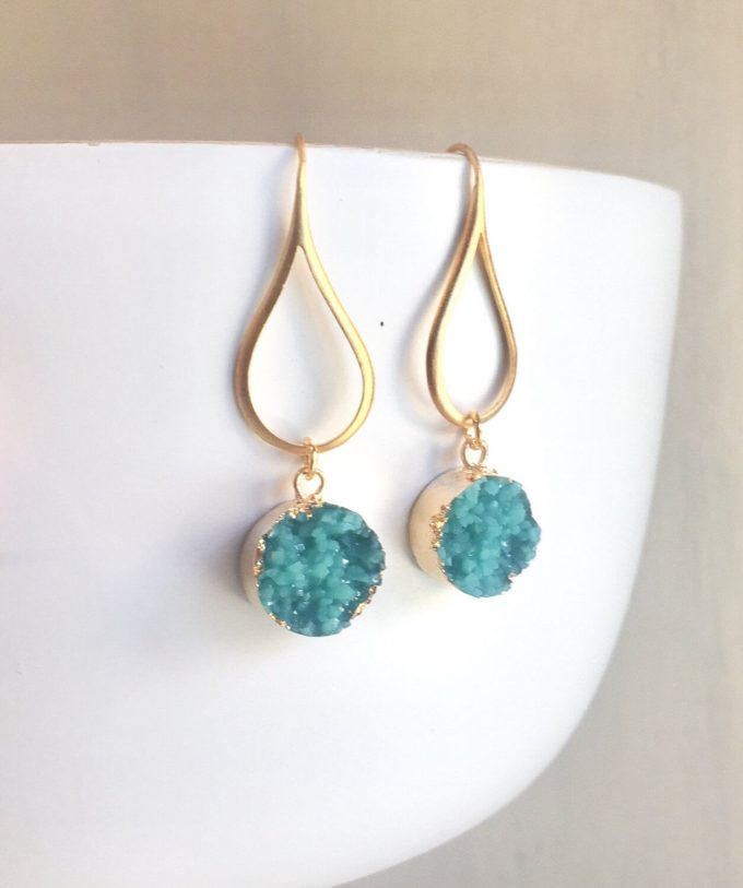 druzy wedding party earrings