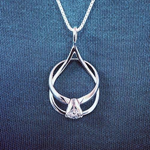 engagement ring holder necklace