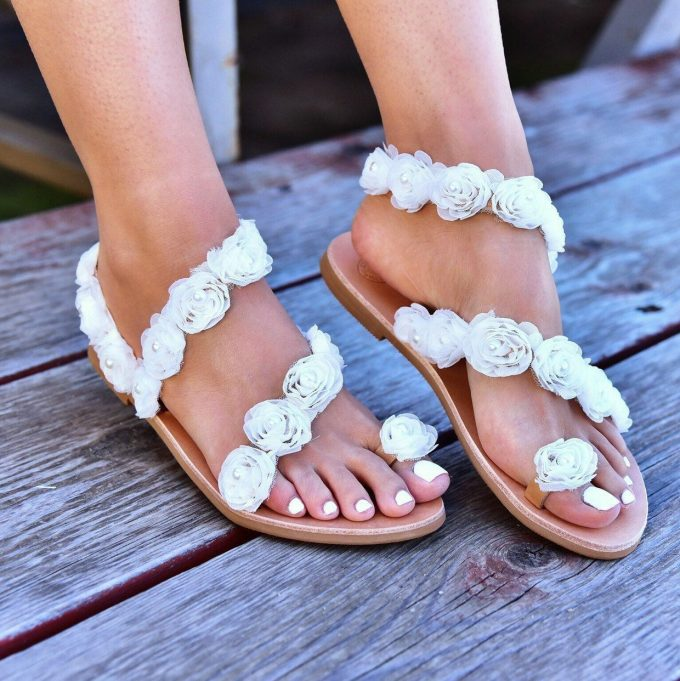 flower bridal sandals