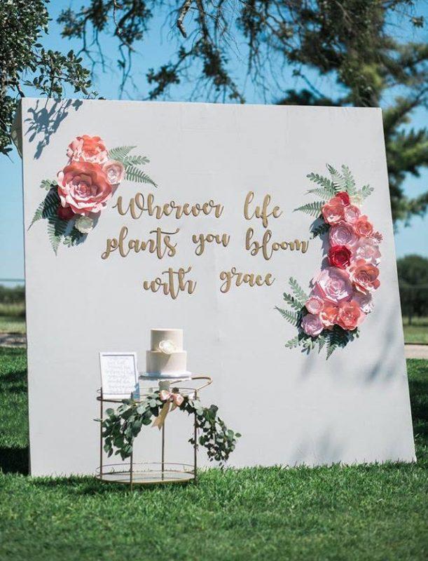 paper flower wall