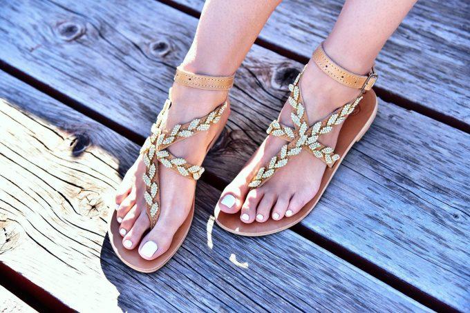 Greek goddess inspired sandals