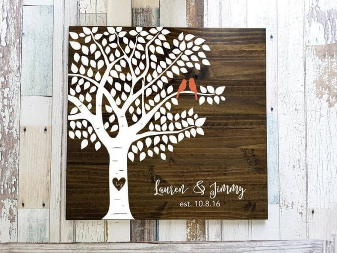 guest book tree sign