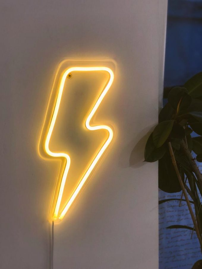 lightning bolt neon sign