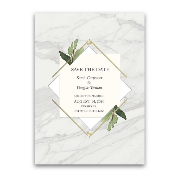marble card - save the date wording