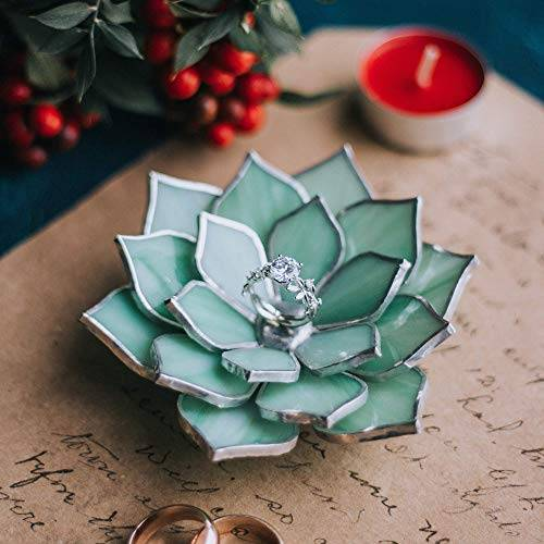 glass flower ring dish