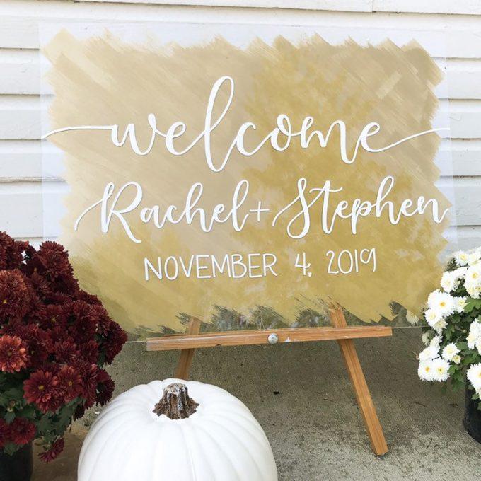 acrylic wedding welcome signs