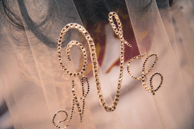 monogram veil