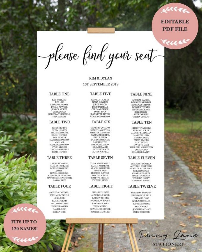 make your wedding seating chart