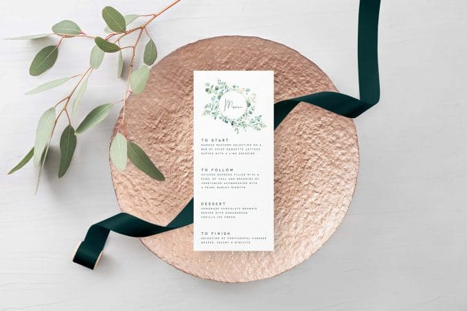 eucalyptus wedding invitations