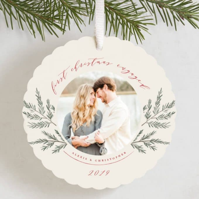 engagement holiday cards