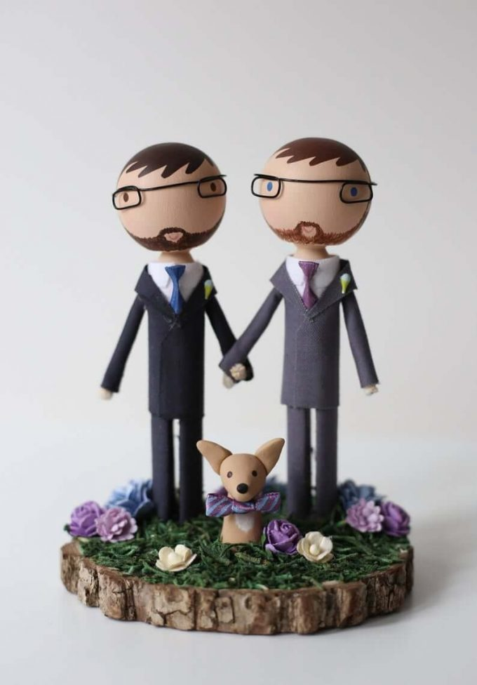 custom wedding cake toppers