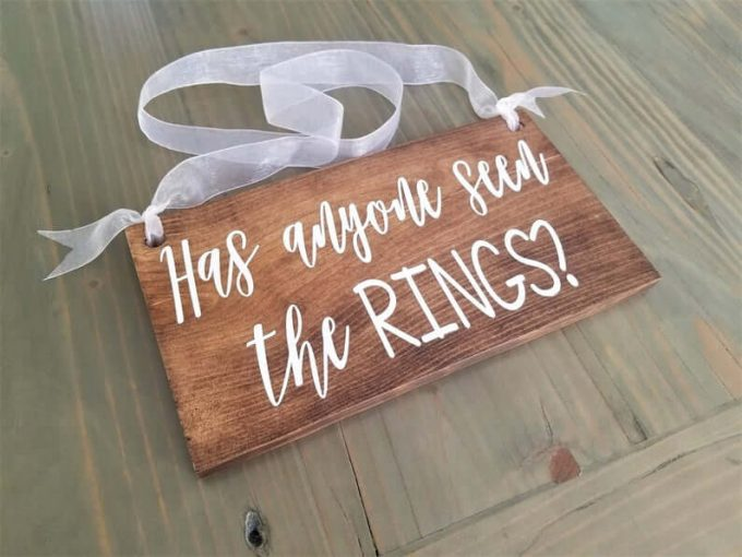 funny ring bearer sign