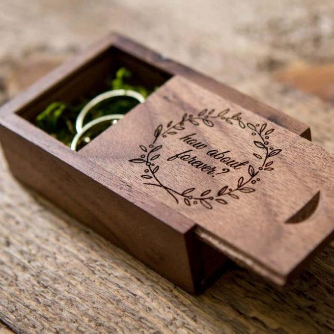 custom wedding ring box