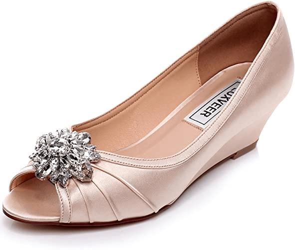 low heel comfortable wedding shoes wedges
