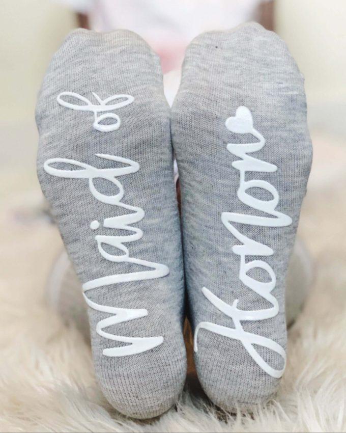 maid of honor socks