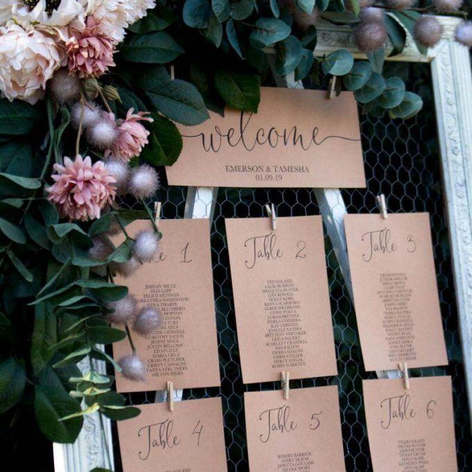 make your wedding seating chart