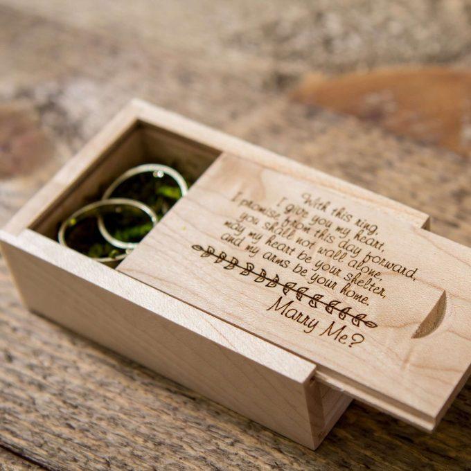 custom engagement ring box