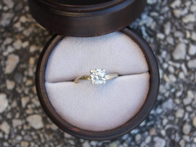 minimalist engagement rings