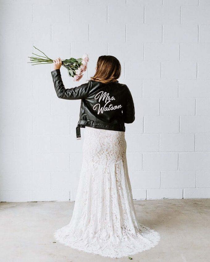 custom mrs leather jacket