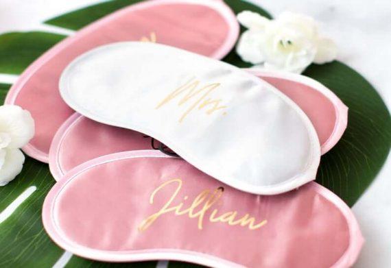 bridesmaid sleep masks