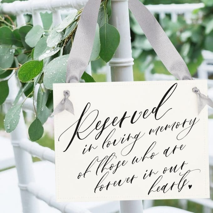 memorial sign wedding