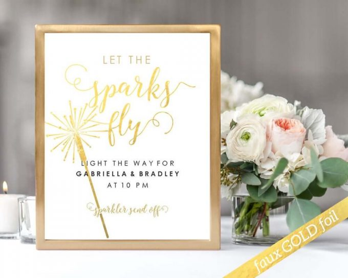 wedding reception printables