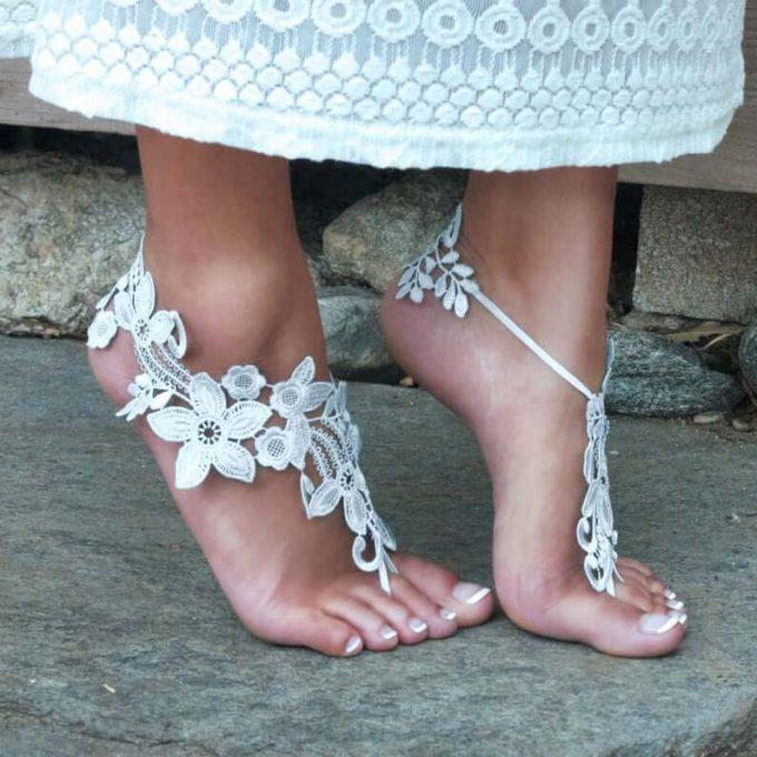 lace barefoot sandals
